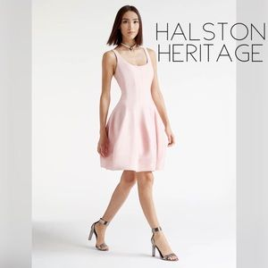 Halston Heritage silk faille mini formal dress